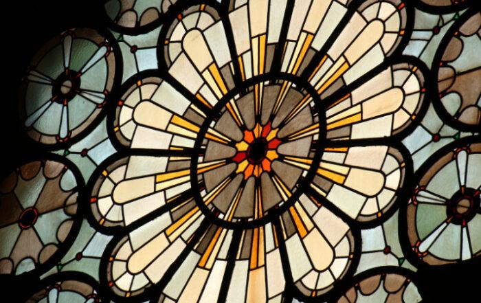 rundes Kirchenfenster