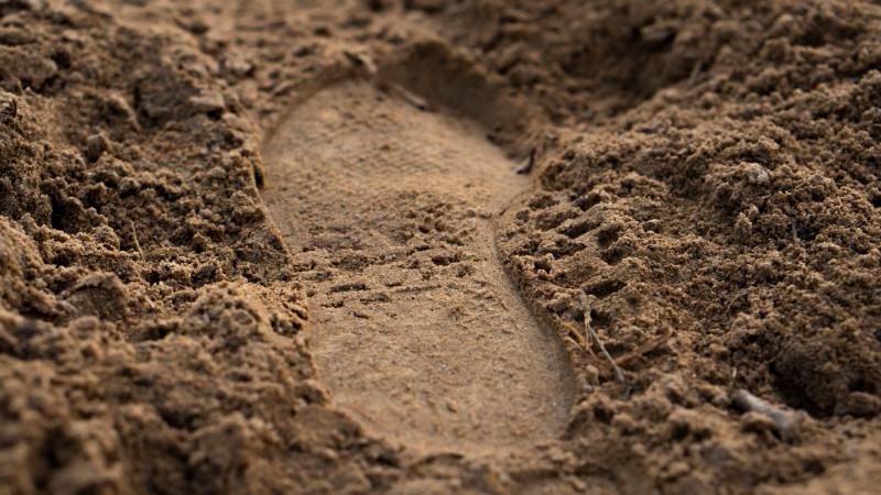Fußabdruck Sand