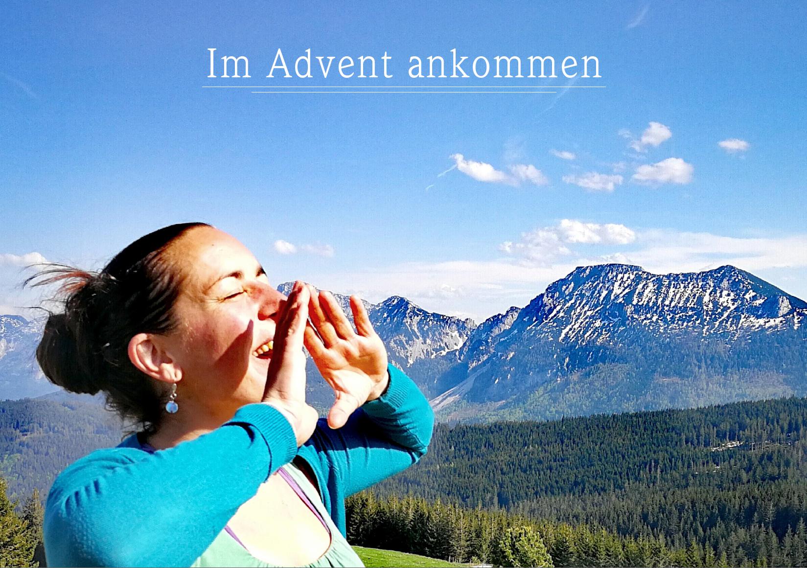 rufende Frau im Alpenvorland